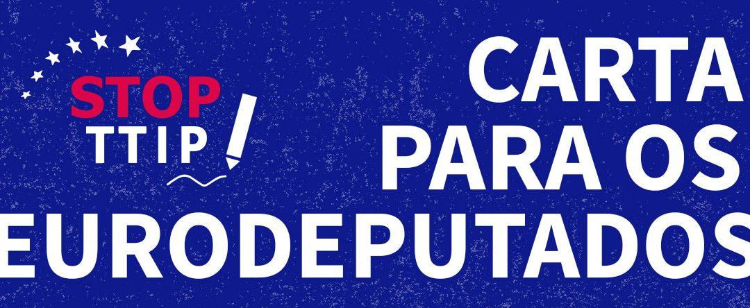 Carta a mandar aos eurodeputados portugueses