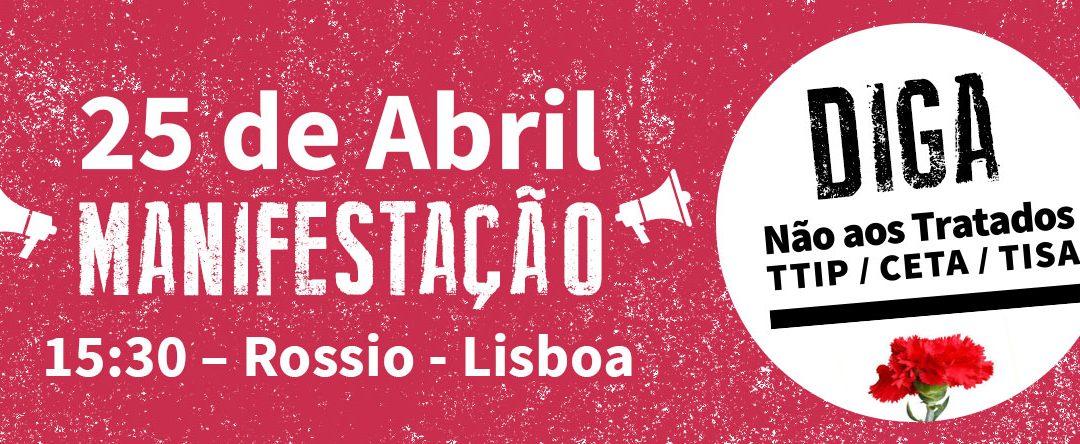 Desfile – 25/04/2016 as 15:30 – no Rossio, Lisboa