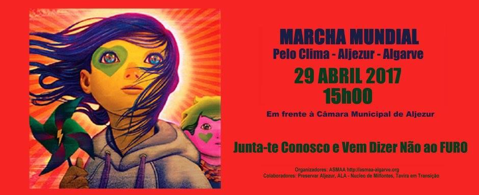 Marcha Mundial pelo clima em Aljezur – dia 29 de abril, pelas 15H