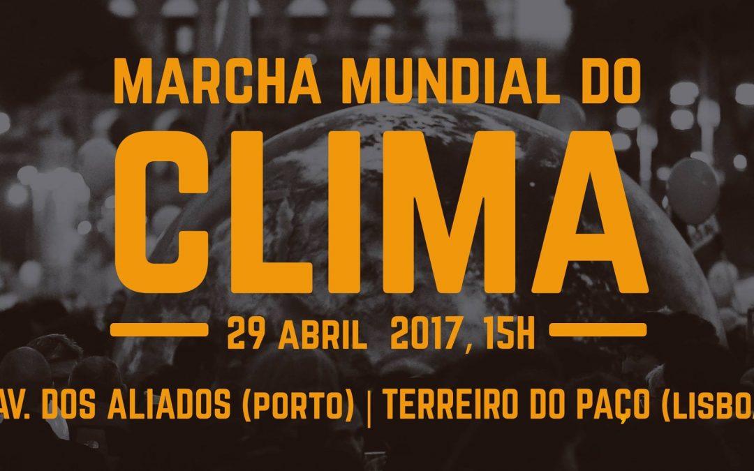 Marcha mundial do clima – Dia 29 de abril, pelas 15H
