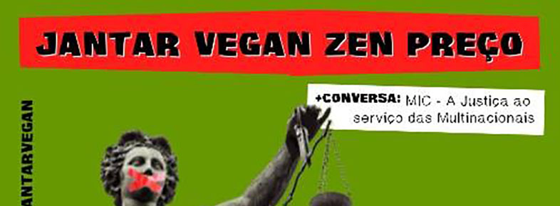 Intervenção da TROCA no jantar vegan Zen preço