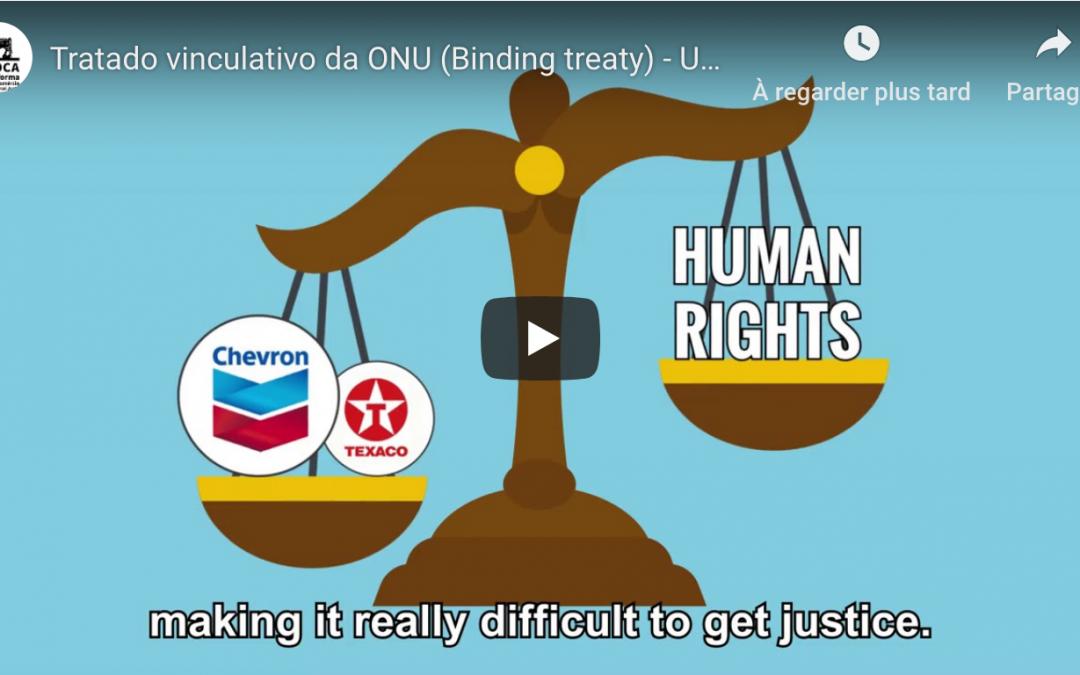 """Vídeo sobre o """"Tratado Vinculativo"""""""