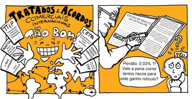 Banda Desenhada sobre acordos internacionais