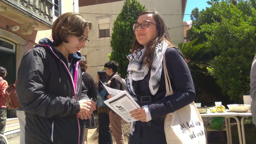 Coimbra IV encontro feminista - Distribução Flyers