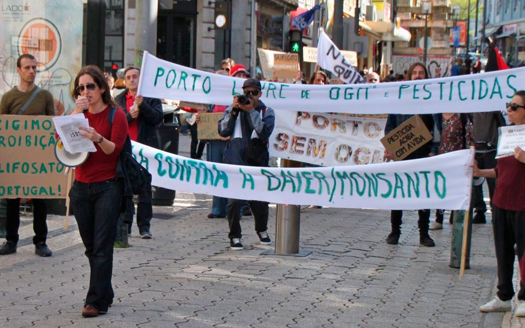Intervenção da TROCA na Marcha contra a Bayer/Monsanto, no Porto, dia 18 de Maio