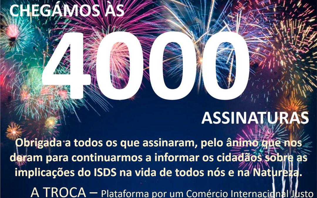 Mais de 4000 assinaturas portuguesas na petição contra o ISDS