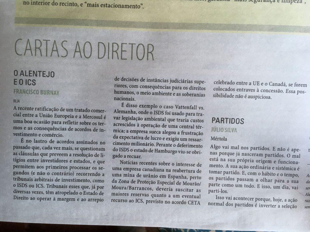 Diario do Alentejo 9 de Agosto de 2019