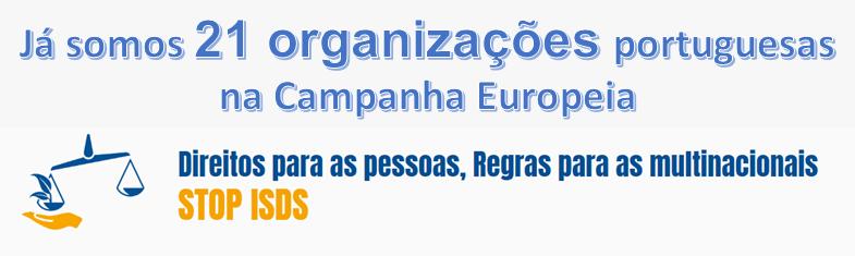 Já somos 21 organizações portuguesas na Campanha Europeia