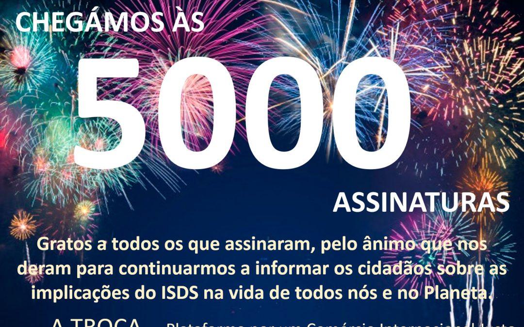 Mais de 5000 assinaturas portuguesas na petição contra o ISDS