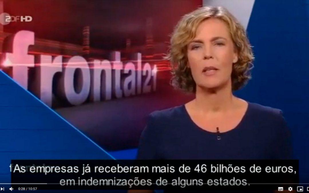 Reportagem televisiva sobre o TCE