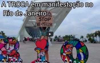 A Trocs em manifestação no Rio de Janeiro