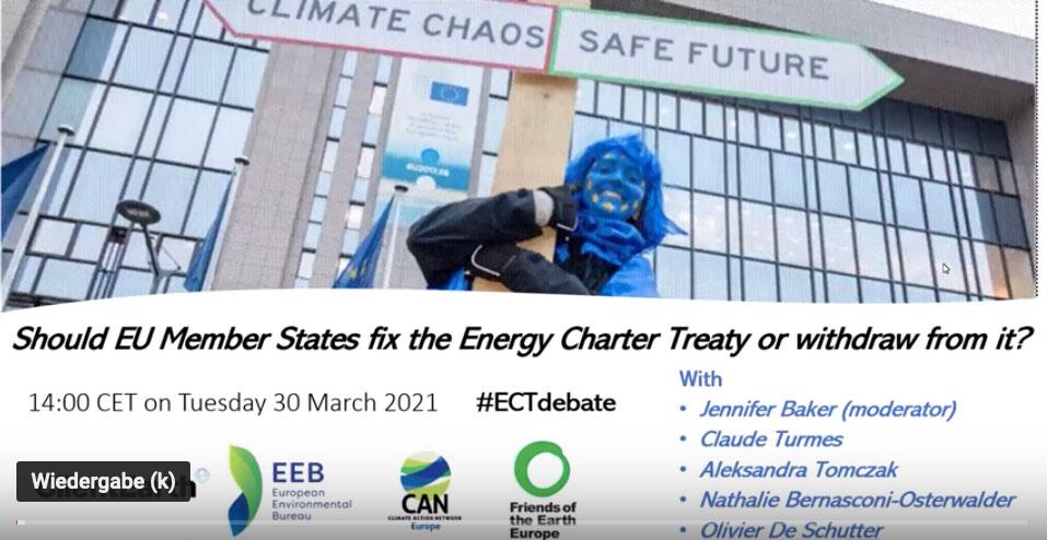 A propósito da modernização do Tratado da Carta da Energia
