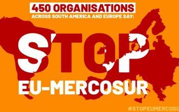 450 organizações apelam a chumbo de acordo comercial