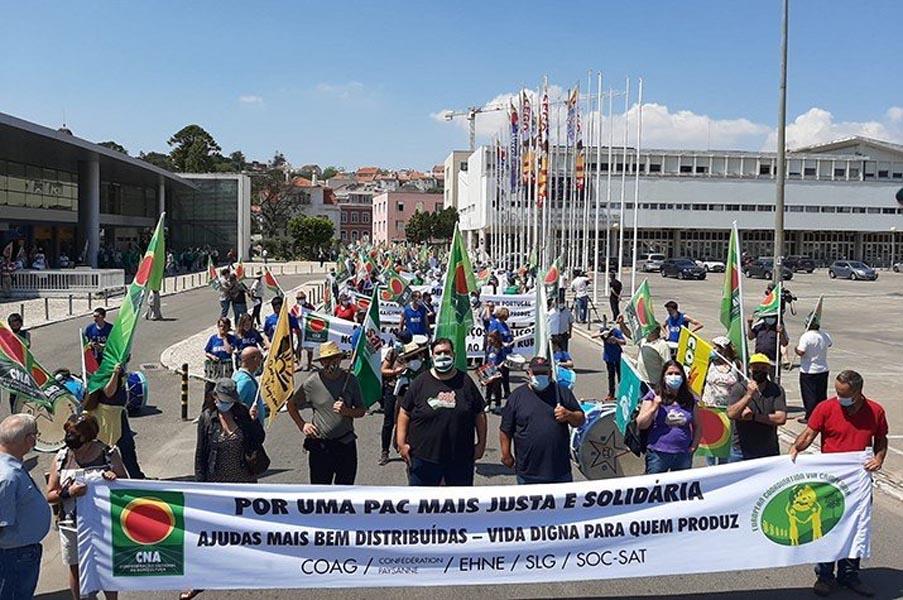 A TROCA na Manifestação da Confederação Nacional de Agricultores