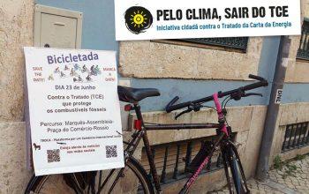 De bicicleta em Junho contra o TCE - Plataforma TROCA