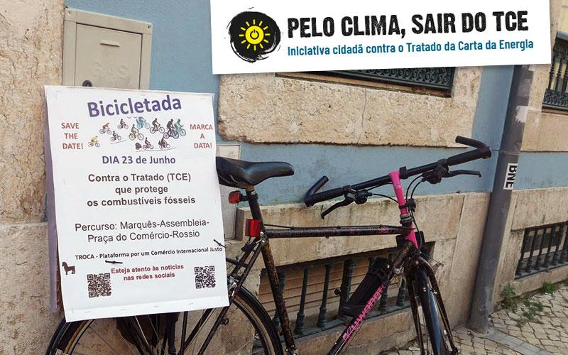 De bicicleta em Junho contra o TCE